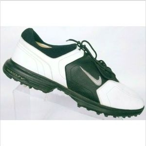 Nike Golf Heritage Men's Black White Golf Shoes 13